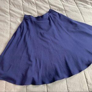 ModCloth Navy Blue A-line Flare Skirt Sz M